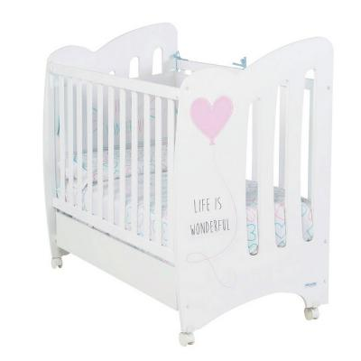 Кровать Micuna Wonderful (Микуна Вандефул) 120*60 white/pink
