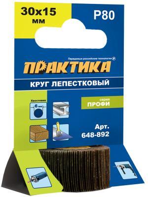 Круг лепестковый с оправкой Практика Профи 30х15мм P80 648-892