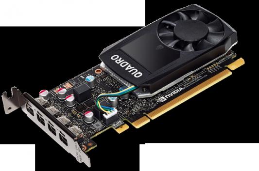 Видеокарта 2048Mb HP Quadro P600 PCI-E GDDR5 miniDP 1ME42AA