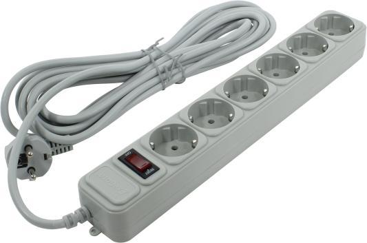 Сетевой фильтр Exegate SP-6-5G 5 м 6 розеток