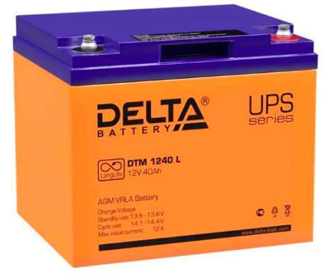 Батарея Delta DTM 1240 L 40Ач 12B  цена и фото