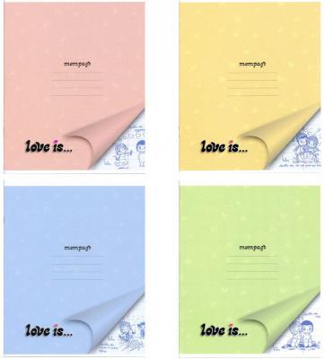 Тетрадь школьная Action! Love IS 18 листов линейка скрепка LI-AN 1804/1 в ассортименте