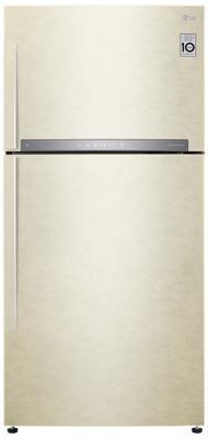 Холодильник LG GR-H802HEHZ бежевый купить холодильник toshiba gr rg59rd gu