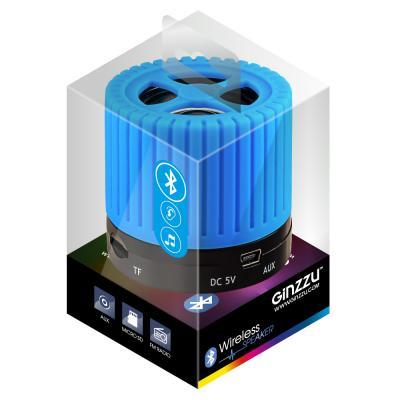Портативная акустика Ginzzu GM-988C синий/черный