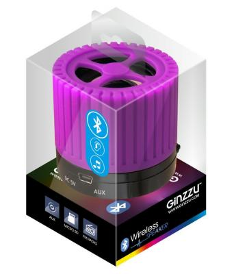 Портативная акустика Ginzzu GM-988V фиолетовый/черный