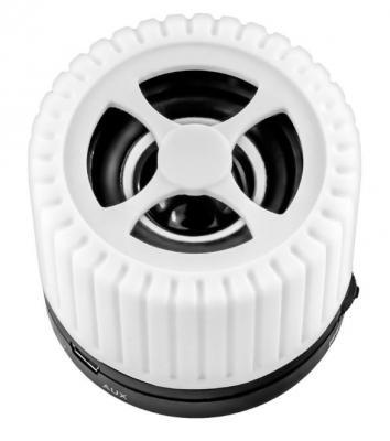Портативная акустика Ginzzu GM-988W белый/черный