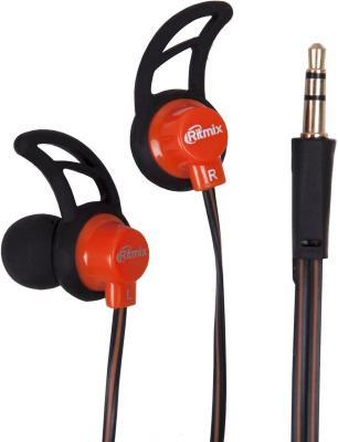 Наушники Ritmix RH-125 черный оранжевый аудио наушники ritmix гарнитуры ritmix rh 565m gaming