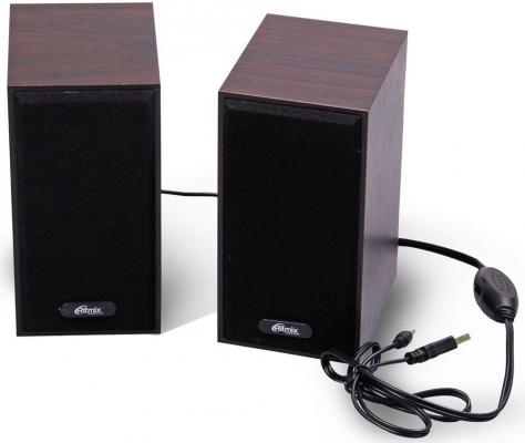 Колонки Ritmix SP-2011w 2x3 Вт коричневый