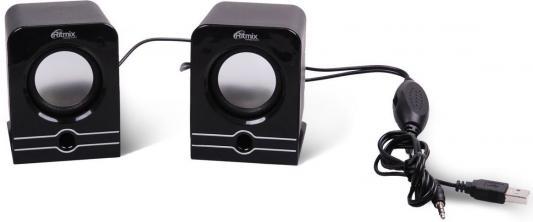 Колонки Ritmix SP-2040 2x2.5 Вт черный