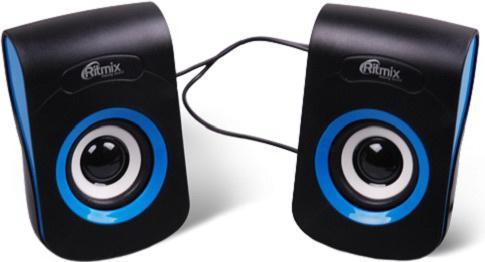 Колонки Ritmix SP-2060 2x3 Вт черный/синий телефон ritmix rt 320 белый
