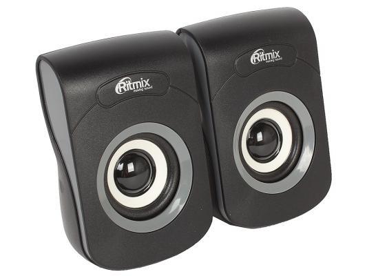 Колонки Ritmix SP-2060 2x3 Вт черный/серый