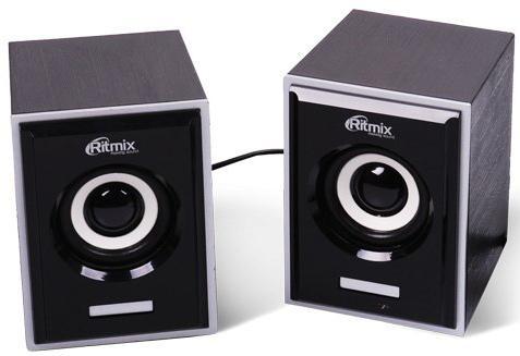 Колонки Ritmix SP-2090w 2x3 Вт черный видеорегистратор ritmix avr 424