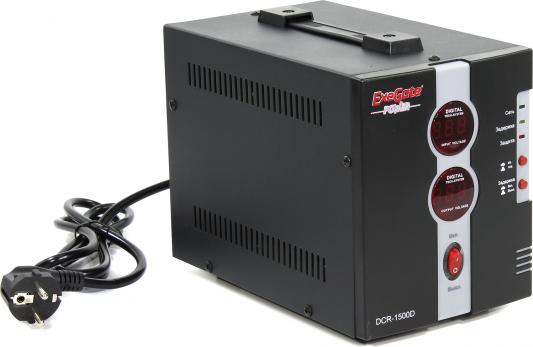 Стабилизатор напряжения Exegate DCR-1500D 2 розетки стабилизатор exegate power rp 500 259013