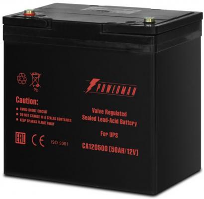 Батарея Powerman CA12500 12V/50AH батарея powerman ca1270 12v 7 0ah
