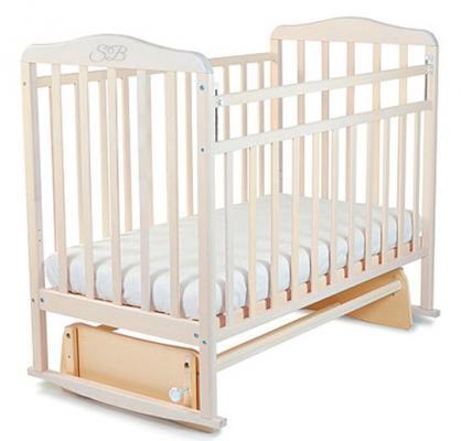 Кроватка с маятником Sweet Baby Ennio (nuvola bianca/белое облако)
