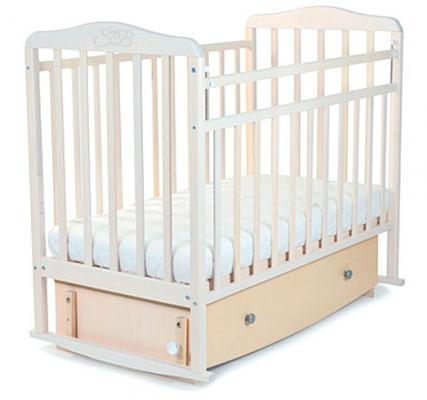 Кроватка с маятником Sweet Baby Luciano (nuvola bianca/белое облако)