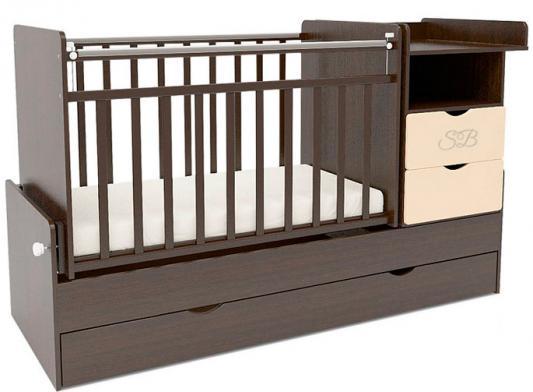 Кровать-трансформер Sweet Baby Valentino (wenge avorio/венге+слоновая кость)