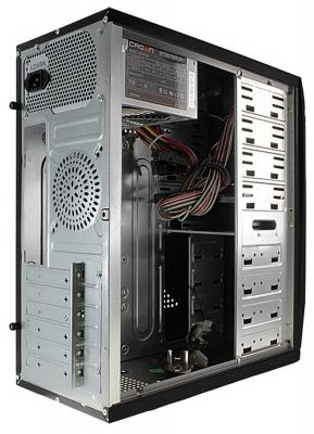 Корпус ATX Crown CMC-C502 450 Вт чёрный серебристый
