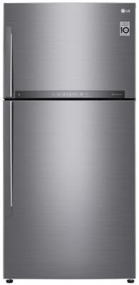 Холодильник LG GR-H802HMHZ серебристый купить холодильник toshiba gr rg59rd gu
