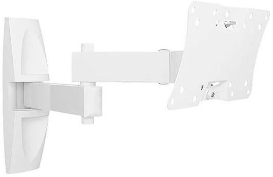 Кронштейн Holder LCDS-5064 белый для ЖК ТВ 19-32 макс 200x100 наклон 15-25° поворот 350° 2 колена до 30 кг