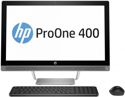 "Моноблок 23.8"" HP ProOne 440 G3 AiO 1920 x 1080 Intel Core i3-7100T 4Gb 1 Tb Intel HD Graphics Windows 10 Home серебристый черный 2RU03ES"