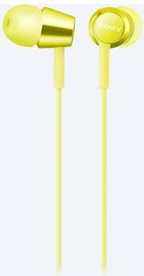 Наушники SONY MDR-EX155 желтый