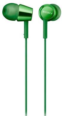 Наушники SONY MDR-EX155 зеленый