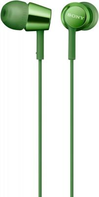 Гарнитура SONY MDR-EX155AP зеленый стерео bluetooth гарнитура sony sbh56 silver