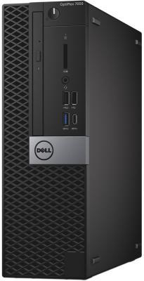 Системный блок DELL Optiplex 7050 SFF i5-6500 3.2GHz 8Gb 256Gb SSD HD530 DVD-RW Win7Pro Win10Pro клавиатура мышь черный/серебристый 7050-4353