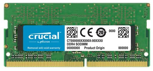 Оперативная память для ноутбуков SO-DDR4 8Gb PC4-19200 2400MHz Crucial CT8G4SFD824A оперативная память для ноутбуков so ddr4 8gb pc17000 2133mhz kingston kvr21s15s8 8