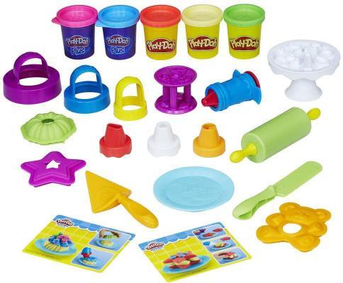 Набор для лепки HASBRO Play-Doh B9741 5 цветов play doh игровой набор праздничный торт