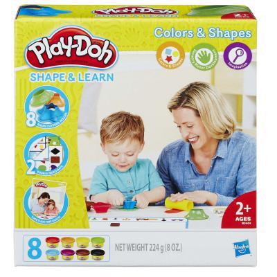 Набор для лепки HASBRO Play-Doh ЦВЕТА И ФОРМЫ 8 цветов