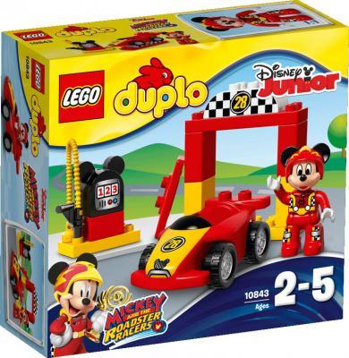 Конструктор LEGO Гоночная машина Микки 10843 15 элементов