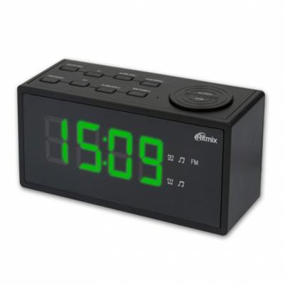 цена на Часы с радиоприёмником Ritmix RRC-1212 чёрный