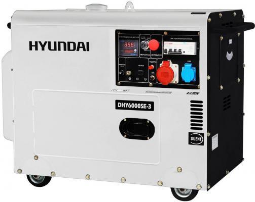 Генератор Hyundai DHY 6000SE-3 10 л.с дизельный