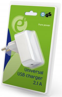 Сетевое зарядное устройство Energenie EG-UC2A-01 USB 2.1A белый