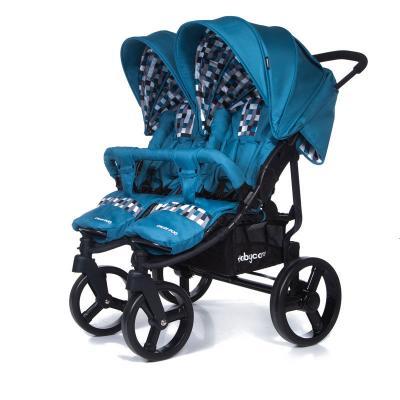 Прогулочная коляска для двойни Baby Care Cruze DUO (blue 17) коляска baby care baby care коляска для двойни tandem brown grey