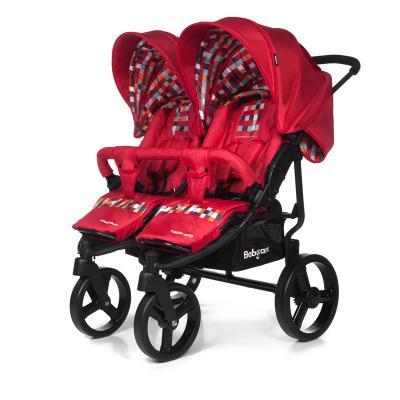 Прогулочная коляска для двойни Baby Care Cruze DUO (red 17) коляска baby care baby care коляска для двойни tandem brown grey