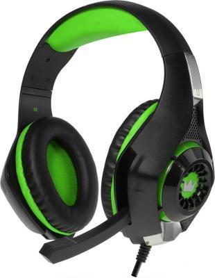 Гарнитура Crown CMGH-101T черный зеленый