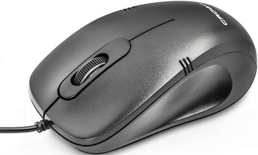 Мышь проводная Crown CMM-501 Silent чёрный USB мышь проводная crown cmxg 614 чёрный usb