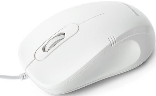 Фото - Мышь проводная Crown CMM-502 Silent белый USB мышь проводная crown cmm 960 health чёрный usb