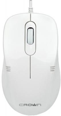 все цены на Мышь проводная Crown CMM-502 Silent белый USB онлайн