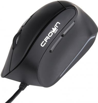 Мышь проводная Crown CMM-960 Health чёрный USB мышь проводная crown cmm 016 чёрный серебристый usb