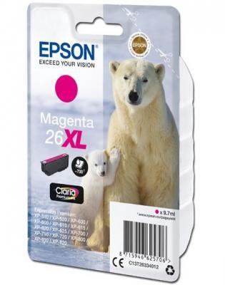 Картридж Epson C13T26334012 для Epson XP600/7/8 пурпурный 700стр картридж epson для xp600 7 8 c13t26324012 голубой