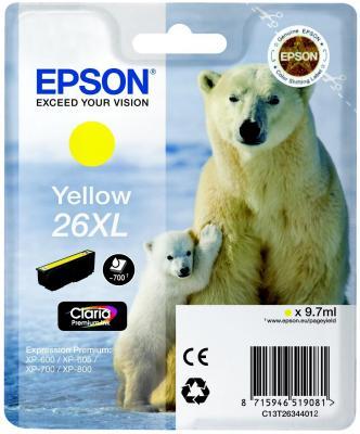 Фото - Картридж Epson C13T26344012 для Epson XP-600/700/800 желтый ic et2634 картридж t2 для epson expression premium xp 600 605 700 710 800 желтый с чипом