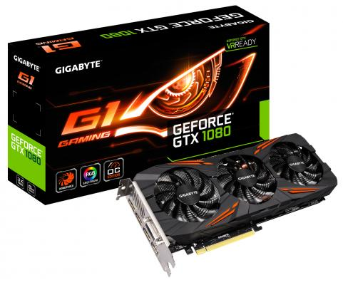 Видеокарта 8192Mb Gigabyte GeForce GTX1080 G1 GAMING PCI-E 256bit GDDR5X DVI HDMI DP GV-N1080G1 GAMING-8GD Retail из ремонта видеокарта 8192mb gigabyte geforce gtx1080 wf3 oc pci e 256bit gddr5x dvi hdmi dp gv n1080wf3oc 8gd retail