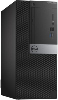 Системный блок DELL Optiplex 7050 MT i5-6500 3.2GHz 8Gb 2Tb R5 430-2Gb DVD-RW Win7Pro Win10Pro клавиатура мышь черный/серебристый 7050-8222