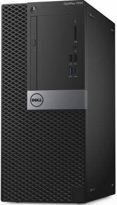 Системный блок DELL Optiplex 7050 MT i7-6700 3.4GHz 16Gb 512Gb SSD R7 450-4Gb DVD-RW Linux клавиатура мышь черный/серебристый 7050-8239 системный блок dell optiplex 3050 intel core i3 3400мгц 4гб ram 128гб win 10 pro черный
