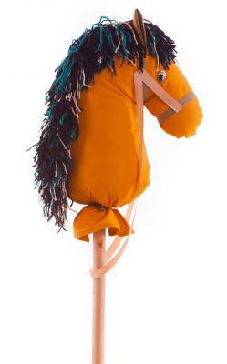 Каталка на палочке Коняша Бурушка оранжевый от 3 лет