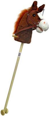 """Лошадка-скакалка Shantou Gepai """"Лошадка с колесиками"""" коричневый от 3 лет плюш"""